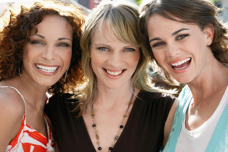 3 Woman Smiling With White Teeth To Show Benefits Of Regular Dentist Visits